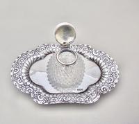 Fabulous Victorian Silver Inkstand by Charles Edward Nixon, Sheffield 1893 (5 of 9)