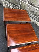 Edwardian  Inlaid Mahogany Nest 4 Tables (9 of 12)