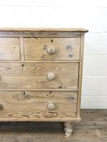 Small Antique Pine Chest of Drawers (4 of 9)