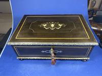 19th Century French  Ebonised Fruitwood Jewellery Box (16 of 18)