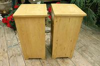 Nice Quality Old Stripped Pine Bedside Cabinets (7 of 9)