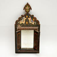 Antique Persian Painted Wood Mirror (2 of 11)