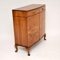 Antique Burr Walnut Two Door Cabinet (8 of 8)