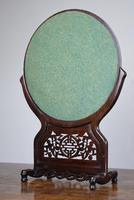 Chinese Hardwood Mirror Stand with Circular Bevelled Mirror (7 of 10)