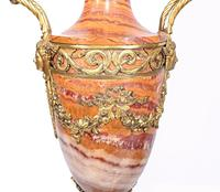 Pair of French Marble Urns Amphora Cassoulets Empire 1890 (5 of 16)