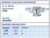 1.11ct Diamond & Platinum Solitaire Ring c.1935 (6 of 9)