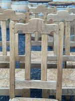 Set of 6 French Bleached Oak Farmhouse Dining Chairs (7 of 13)