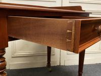 Victorian 2 Drawer Writing Table or Desk (2 of 16)