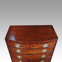 Edwardian Bow Fronted Small Chest (8 of 9)