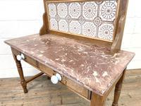 Antique Pine Tile Back Washstand (13 of 15)