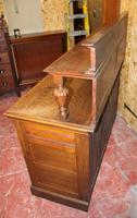 1920s Arts & Craft Style Carved Oak Sideboard with Back (7 of 9)