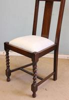 Antique Set of Four Oak Dining Chairs (5 of 9)