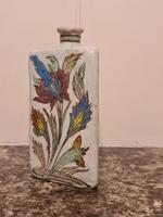 18th Century Antique Iznik Stoneware Vase Flask Bottle Persian Ottoman Islamic (2 of 12)