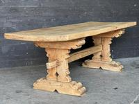 Rustic French Bleached Oak Farmhouse Dining Table (14 of 15)