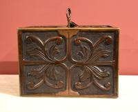 Continental 19th Century Carved Oak Casket Box (6 of 8)