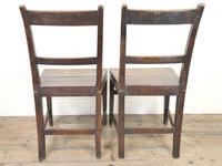 Two Similar 19th Century Oak Bar Back Farmhouse Chairs (10 of 10)