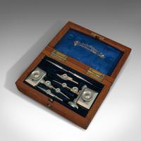 Antique Trammel Point Set, Draughtsman's Instruments, Stanley, Victorian, C.1900 (3 of 9)