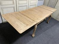 French Bleached Oak Extending Dining Table (15 of 17)