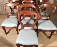 Set of 10 Victorian Balloon Back Chairs (2 of 10)