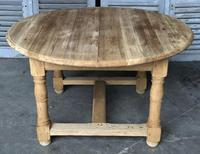 Round Farmhouse Dining Table with leaf (9 of 11)