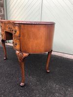 Antique Walnut & Burr Walnut Kidney Shaped Desk (13 of 13)