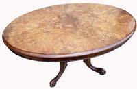 Victorian Burr Walnut Loo Table (4 of 6)