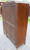 1940s Burr Walnut 3 Door Wardrobe Well Fitted (6 of 6)