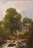 """Oil Painting by Joseph Paul Pettitt """"The Mill at Capel Currig, North Wales"""" (2 of 4)"""