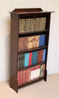 Dark Oak Open Bookcase (9 of 11)