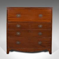 Antique Secretaire Cabinet, English, Chest of Drawers, Bureau, Desk, Georgian (3 of 12)