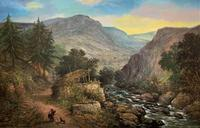 William R Stone Lovely Dolgilly North Wales Landscape Painting (2 of 13)