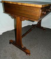William IV Rosewood Writing Table / Library Table (3 of 6)