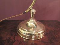 Antique Edwardian Polished Brass Adjustable Desk Lamp (5 of 6)