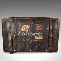 Vintage Overseas Voyage Trunk, English, Leather, Travel Case, Luggage c.1930 (6 of 12)