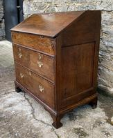 18th Century Georgian Oak Crossbanded Bureau (20 of 22)