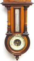 Antique combination HAC 8 Day Wall Clock Clock displays clock, barometer and thermometer (6 of 10)