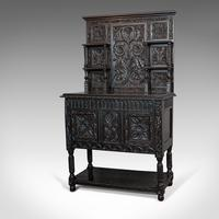 Antique Charles II Revival Dresser, English, Oak, Sideboard, Victorian c.1880 (5 of 10)