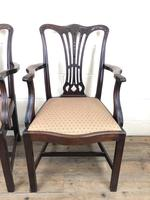 Pair of 19th Century Chippendale Style Armchairs (7 of 11)