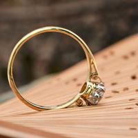 The Vintage Brilliant Cut Diamond Solitaire Ring (5 of 5)
