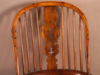 Very Good 19th Century Broad Arm Yew Windsor Chair (6 of 10)