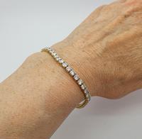18ct YG Diamond Tennis Bracelet with Safety Clasp (6 of 6)