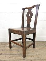 Set of Four 19th Century Oak Dining Chairs (9 of 10)