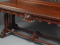 Carved Oak Serving Table Attributed to Pugin (16 of 17)