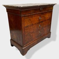French Marble Top Commode with Brushing Slide