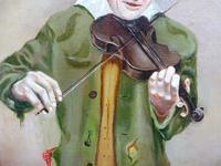 Oil on Canvas The Violinist Artist David Vivien 1970s (4 of 10)