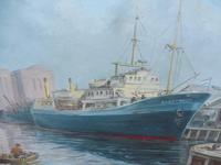 Oil on board seascape Shoreham Power Station Listed Artist Max Parsons ARCA (2 of 10)