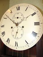 Scottish Georgian Mahogany Longcase Clock - Round Dial (10 of 10)