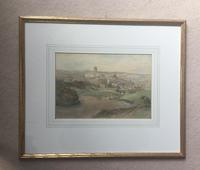 Richard Henry Wright Watercolour 'View of Durham' (2 of 2)
