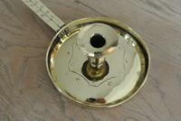 Antique Brass Georgian Chamberstick Pearson Page Candlestick c.1910 (4 of 11)