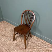 Eight Country House Elm Antique Kitchen Chairs (3 of 8)